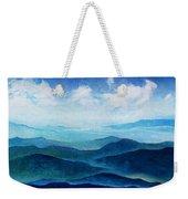 Blue Ridge Blue Skyline Sheep Cloud Weekender Tote Bag