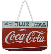 Blue Ridge Coca Cola Sign Weekender Tote Bag