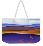 Blue Ridge Orange Mountains Sky And Road In Fall Weekender Tote Bag by Catherine Twomey