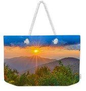 Blue Ridge Parkway Late Summer Appalachian Mountains Sunset West Weekender Tote Bag