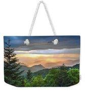 Blue Ridge Parkway Nc - Golden Rainbow Weekender Tote Bag