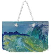 Blue River Landscape I, 1988 Oil On Canvas Weekender Tote Bag