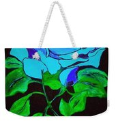 Blue Rose In The Rain Weekender Tote Bag