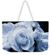 Blue Roses With Raindrops Weekender Tote Bag