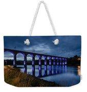 Blue Royal Border Bridge Weekender Tote Bag