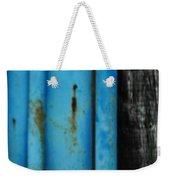 Blue Rusty Farm Gate Weekender Tote Bag