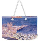 Blue Seascape Wave Effect Weekender Tote Bag