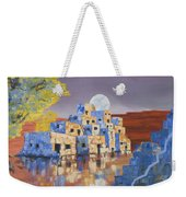 Blue Serpent Pueblo Weekender Tote Bag by Jerry McElroy