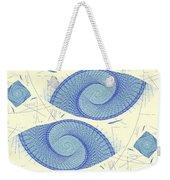 Blue Shells Weekender Tote Bag