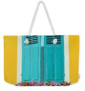 Blue Shutters And Flower Box Weekender Tote Bag