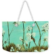Blue Skies Over Cotton Weekender Tote Bag