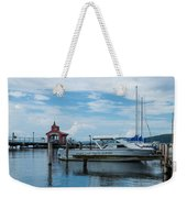 Blue Skies Over Seneca Lake Marina Weekender Tote Bag