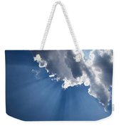 Blue Sky And Sun Rays Weekender Tote Bag