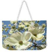 Blue Sky Spring White Dogwood Flowers Art Prints Weekender Tote Bag
