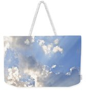 Blue Sky With Sun Rays Weekender Tote Bag