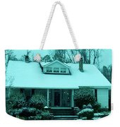 Blue Snow  Weekender Tote Bag