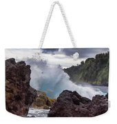 Blue Splash Weekender Tote Bag
