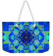 Blue Sri Yantra Variation Weekender Tote Bag