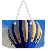 Blue Stripped Hot Air Balloon Weekender Tote Bag