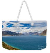 Blue Surface Of Lake Hawea In Central Otago Of New Zealand Weekender Tote Bag