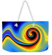 Blue Swirl Weekender Tote Bag