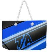 Blue Ta Weekender Tote Bag