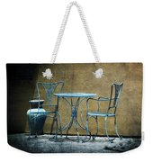 Blue Table And Chairs Weekender Tote Bag