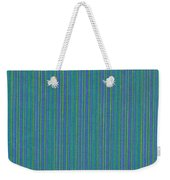 Blue Teal And Yellow Striped Textile Background Weekender Tote Bag