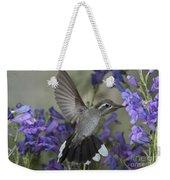 Blue-throated Hummingbird Weekender Tote Bag