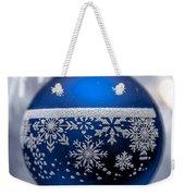 Blue Tree Ornament Weekender Tote Bag