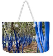 Blue Trees In Nature Weekender Tote Bag