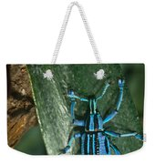 Blue Tropical Weevil Weekender Tote Bag