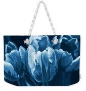 Blue Tulip Flowers Weekender Tote Bag