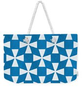 Blue Twirl Weekender Tote Bag by Linda Woods