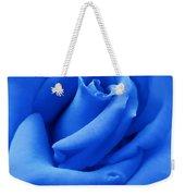 Blue Velvet Rose Flower Weekender Tote Bag
