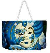 Blue Venetian Mask Weekender Tote Bag