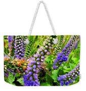 Blue Veronica Flowers   Digital Paint Weekender Tote Bag