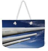 Blue Versus Grey Weekender Tote Bag