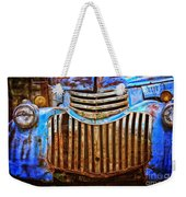 Blue Vintage Car Weekender Tote Bag