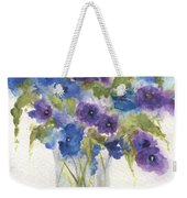 Blue Violet Flower Vase Weekender Tote Bag
