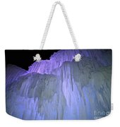 Blue Violet Ice Mountain Weekender Tote Bag