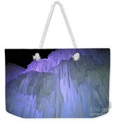 Blue Violet Ice Mountain Weekender Tote Bag