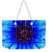 Blue Wallflower Abstract Weekender Tote Bag