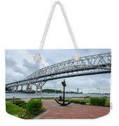 Blue Water Bridge Anchor Weekender Tote Bag