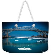 Blue Water Bridge Reflection Weekender Tote Bag