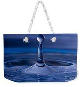 Blue Water Drop Weekender Tote Bag