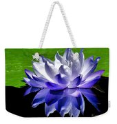 Blue Water Lily Reflection Weekender Tote Bag