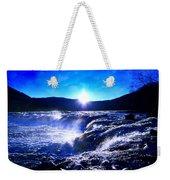 Blue Waterfall Weekender Tote Bag