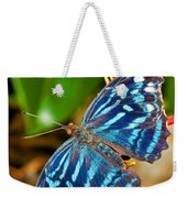 Blue Wave Butterfly Weekender Tote Bag
