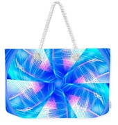 Blue Wheel Inflamed Abstract Weekender Tote Bag